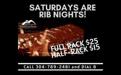 Saturdays are Rib Nights